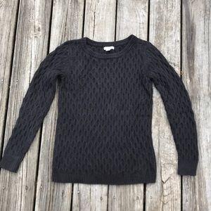 Black honeycomb knit sweater